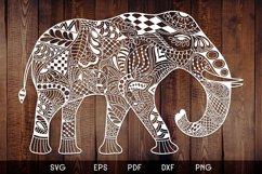 Elephant Zentangle - Doodle Art SVG - Vector Product Image 1