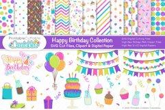 Happy Birthday SVG Bundle - Cut Files & Digital Paper Product Image 1
