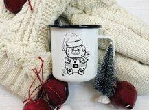 Christmas Dog Illustration svg|Funny christmas animal svg Product Image 2