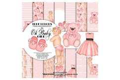 Pink Dreams Baby Girl Paper Pack Fashion Illustration Product Image 1