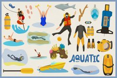 Water Sports Vector Clipart and Seamless Patterns Product Image 3