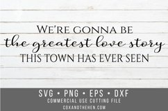 Greatest Love Story Wood Sign Stencil SVG Product Image 1