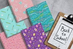 Back to School Digital Paper, School girl paper Product Image 6