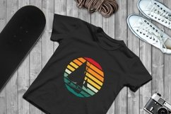 Sunset Boat SVG File Cricut & Silhouette, Cut Print Files Product Image 1
