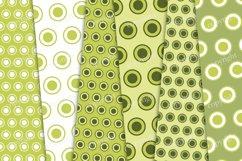 Green circles digital paper, polka dots scrapbook paper Product Image 3
