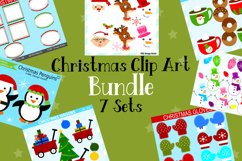 Christmas Clipart Graphics Bundle, Illustrations, Clipart Product Image 1
