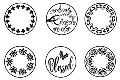 Floating Ornament Inserts Plus 32 Holiday Designs SVGs Product Image 3
