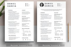 Clean Editable Resume Cv Template in Word Apple Pages Format Product Image 2