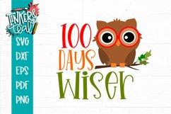 100 Days Wiser Boy Owl - School SVG Product Image 2