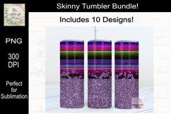 Leopard, Serape and Glitter Sublimation Tumbler Bundle Product Image 5