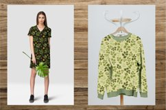 Watercolor greenery seamless pattern of leaves Product Image 3
