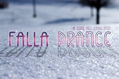 Falla Prance | A cute all caps duo font| Monoline Font Product Image 1