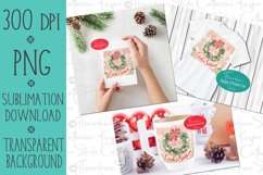 Cookie Season Wreath PNG Christmas Sublimation Design Product Image 2