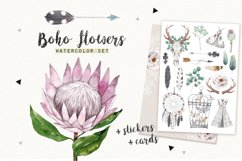 BOHO FLOWERS watercolor set Product Image 1