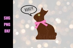 Chocolate Bunny - Easter SVG - Downloadable Files Product Image 2