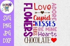 Valentine's Day Subway Art SVG - Valentine's Day Words Product Image 1