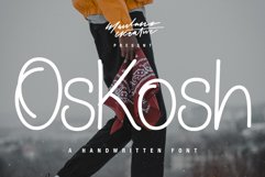 Oskosh Handwritten Font Product Image 1