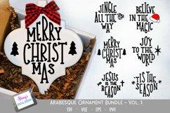 Christmas Ornament Bundle - 6 Arabesque Ornament SVG Designs Product Image 1
