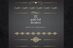 22 Page Dividers and Borders, Gold Foil Clipart Dividers Product Image 1
