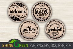 Fall Bundle Fall SVG Round Sign Farmhouse Home Thanksgiving Product Image 6