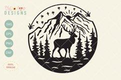 Elk mountain svg file, outdoor t-shirt design svg Product Image 1