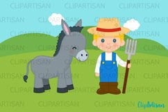 Farm Animals Clipart, Farmer Product Image 2