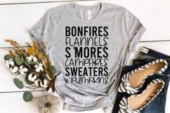 Fall Quote - Flannel Bonfires S'Mores Campfires Pumpkins Product Image 5