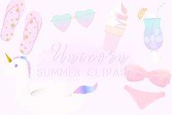 Unicorn Summer Clipart Product Image 1