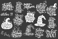 Halloween hand drawn Quotes SVG Cut files Product Image 6