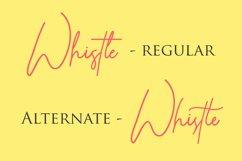 Whistle - Signature font Product Image 6