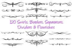 120 Swirl Borders Separator Dividers & Flourishes Collection Product Image 1