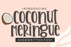 Coconut Meringue- Handwritten Font for Crafters TTF & OTF Product Image 8
