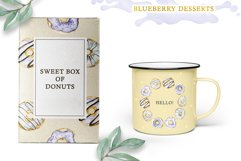 Watercolor collection of Blueberry Desserts Product Image 5