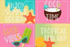 Summer Beach Sunny Display Typeface Product Image 5