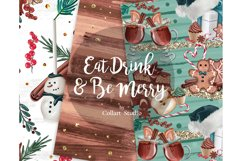 Christmas digital papers, xmas candies digital papers Product Image 5