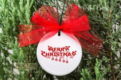 Merry Christmas paper cut SVG / DXF / EPS files Product Image 5