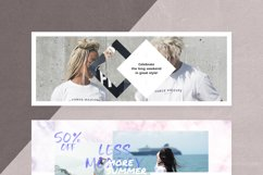 Canva - Marble Facebook Cover Pack Product Image 7