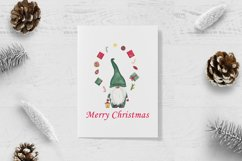 Watercolor christmas gnomes clipart, Christmas card design Product Image 4