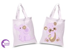 Jungle Babies in lavender clipart, AMB-1212 Product Image 2