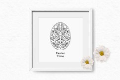 Whimsical Easter egg digital stamps | Cute Easter clipart Product Image 4