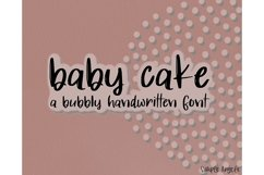 Baby Cake - a bold and bouncy handwritten font Product Image 1