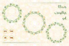 Lucky clover wreaths set. Product Image 1