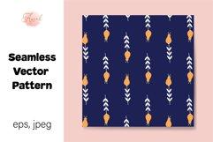 Orange Flowers Digital Paper, Seamless Pattern Product Image 1