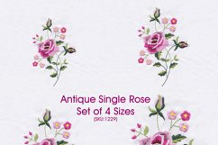 Antique Vintage Old Style Single Rose Product Image 1