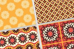 Ethnic Digital Paper, Mandala Seamless Pattern, Uzbek Suzani Product Image 2