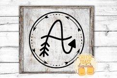 Arrow Monogram A Hand-Lettered Monogram Font Product Image 2