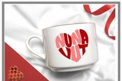 Nunavut Canadian Province Heart Shaped Word Art SVG Product Image 2
