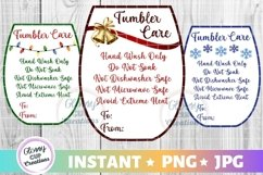 Small Tumbler Holiday Care Card Pack, PNG, Print and Cut Product Image 1