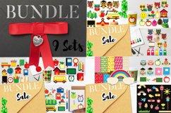 Owl back to school graphic illustrations Big Bundle Product Image 1