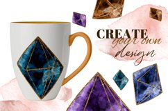 Magic, Occult, Witchcraft, Spiritual watercolor clipart set. Product Image 5